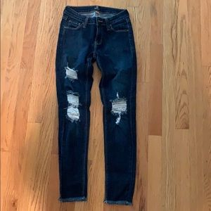 Never worn just black jeans size 24